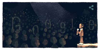 生誕31周年!!Googleロゴにンコシ・ジョンソン君の世界エイズ会議でのスピーチ姿