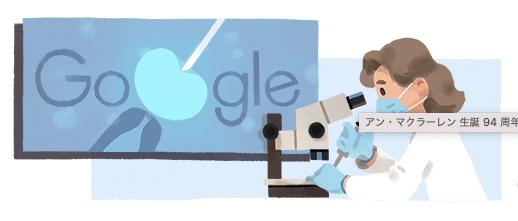 Googleがアン・マクラーレン生誕94周年を祝福!